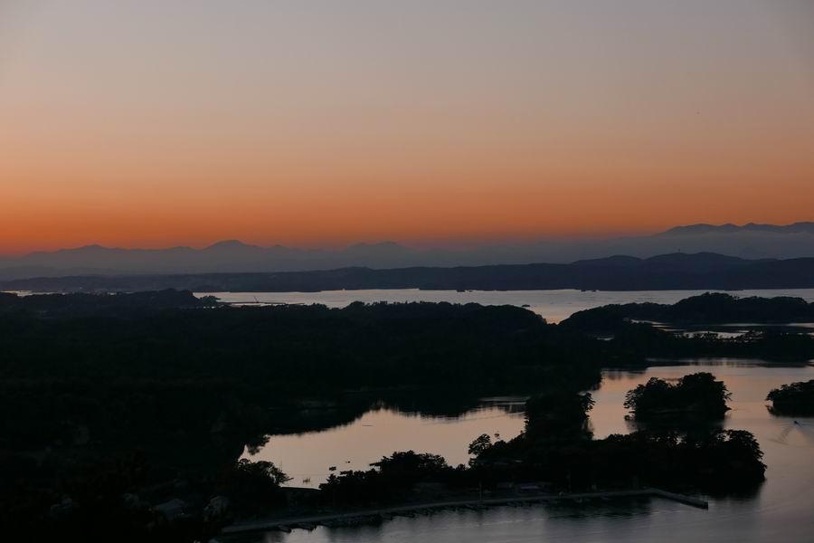 大高森展望台の秋の風景