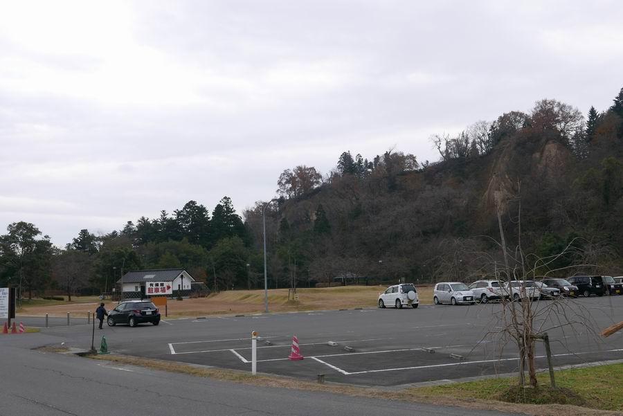有備館の無料駐車場風景