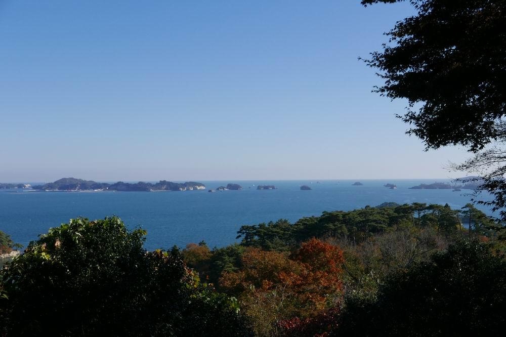 扇谷(幽観)の秋の紅葉の絶景風景