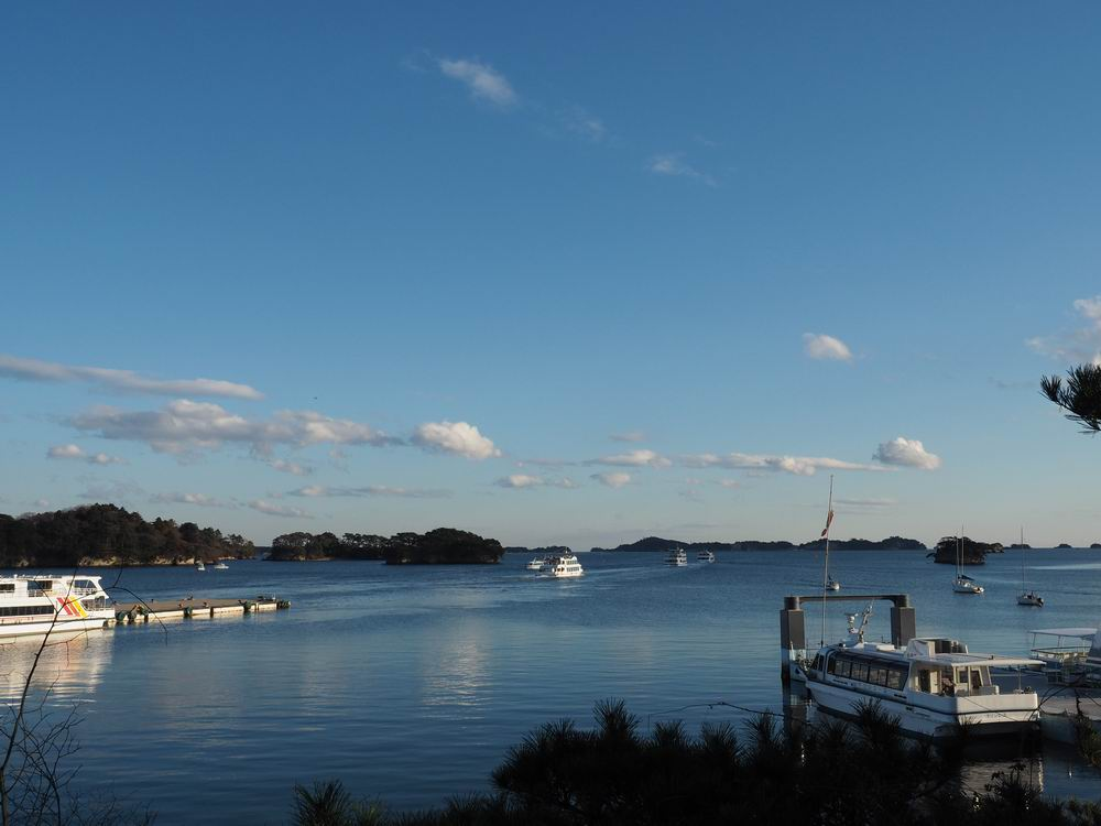 松島観欄亭から見た松島湾の風景写真