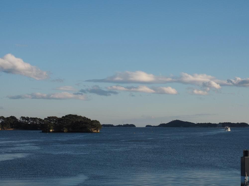 松島観欄亭から見た松島海岸の風景写真