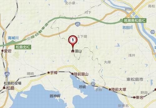 松島四大観麗観の地図