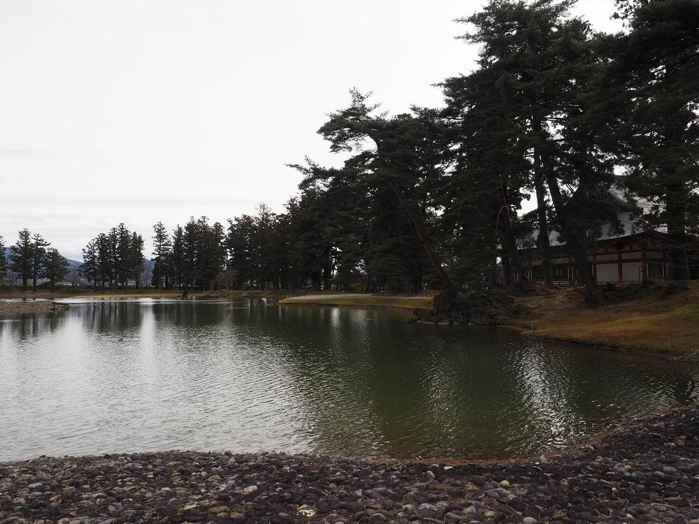 毛越寺庭園白洲をイメージした場所の写真