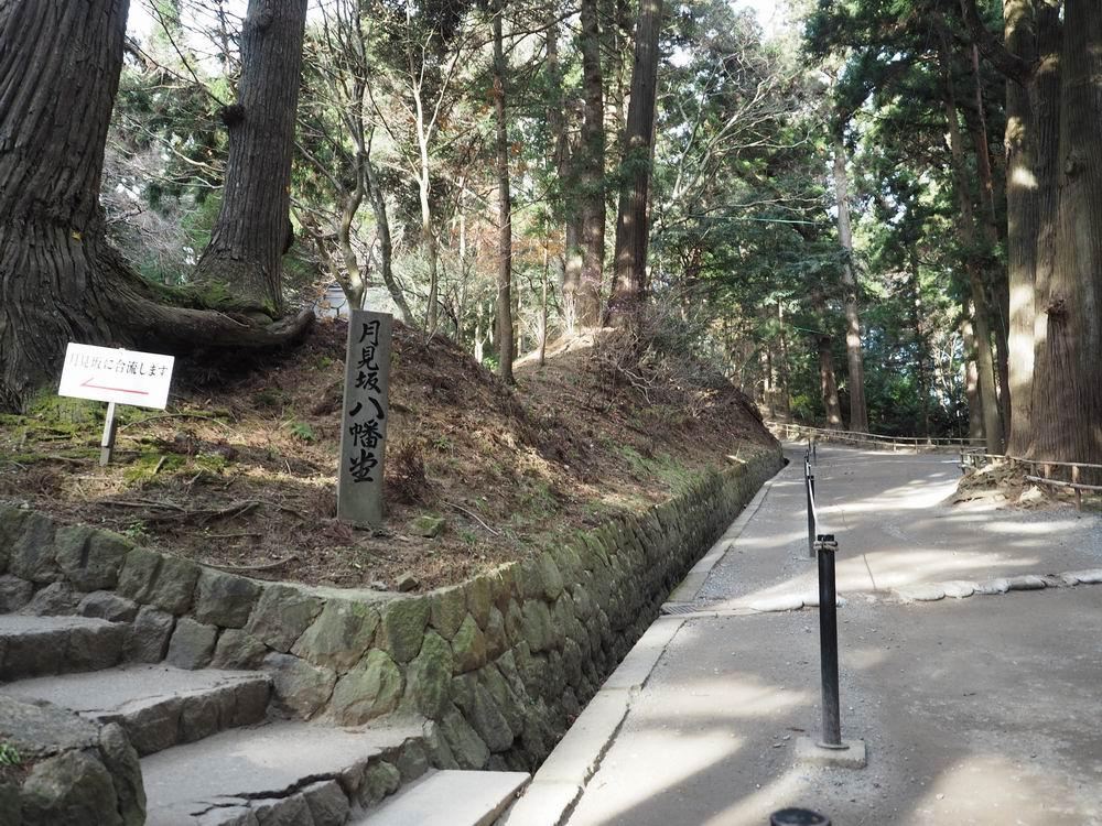 中尊寺の賛同月見坂風景画像