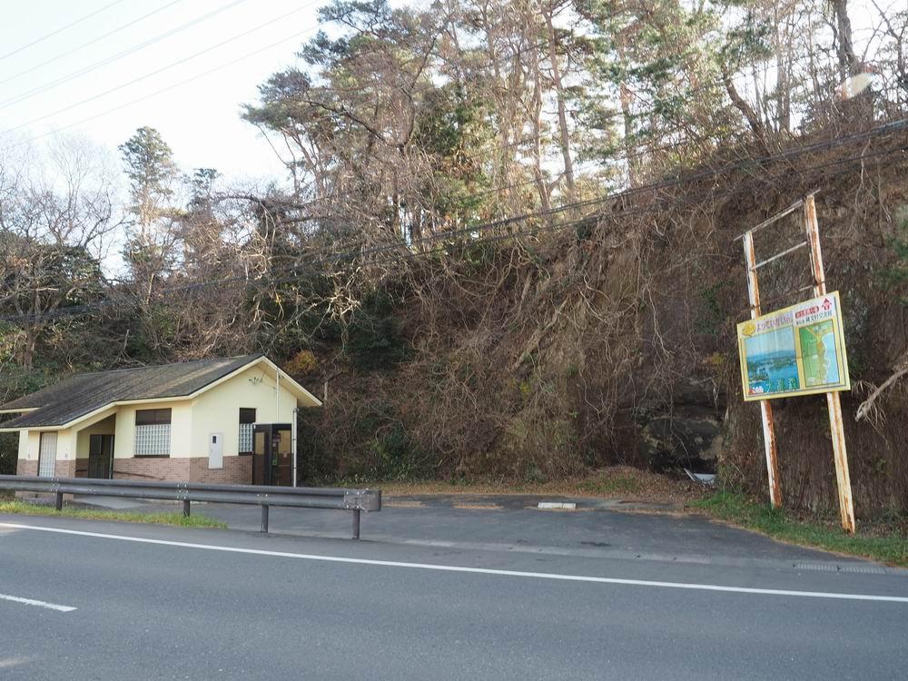 大高森登山口の隣の公衆トイレの風景