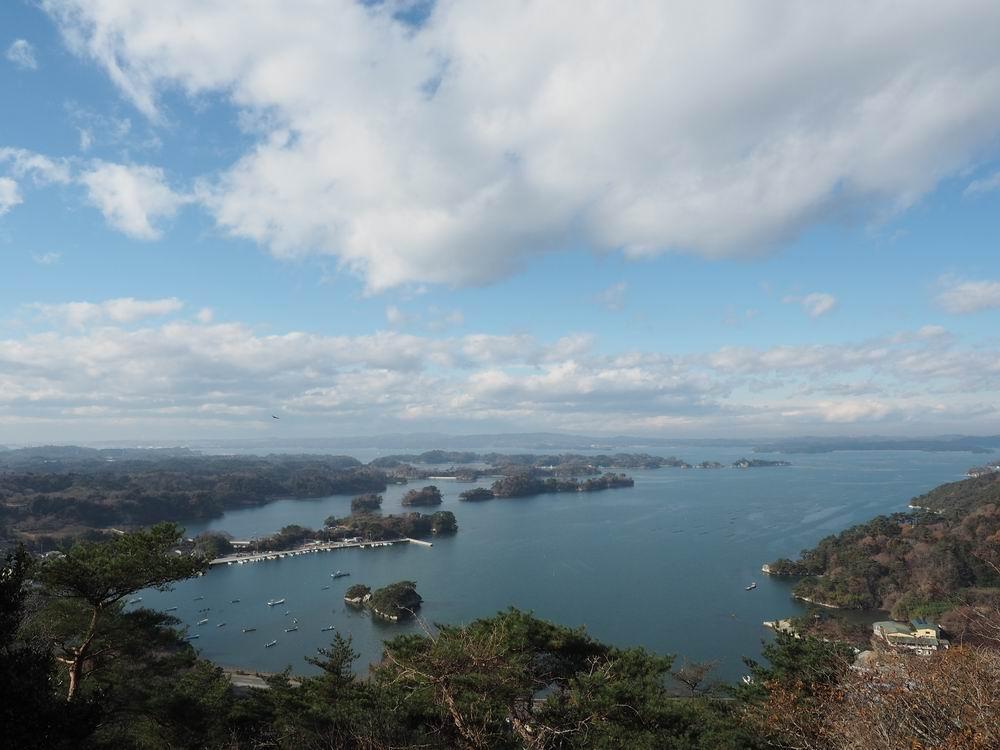 大高森展望台から見た松島嵯峨渓の写真