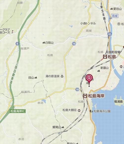 松島円通院への行き方の地図で電車と車の場合の紹介地図
