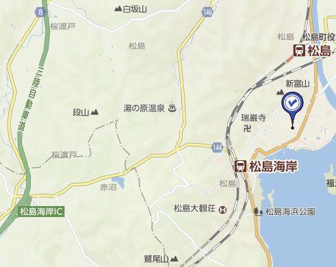 松島さかな市場に車で行くときの地図
