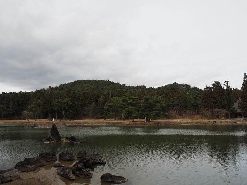 毛越寺庭園の風景
