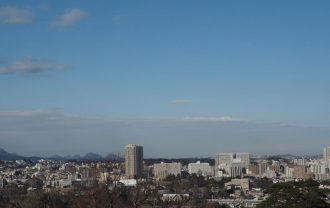 仙台城跡から見た仙台市内の風景