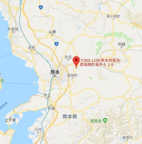 熊本空港カントリークラブの位置情報