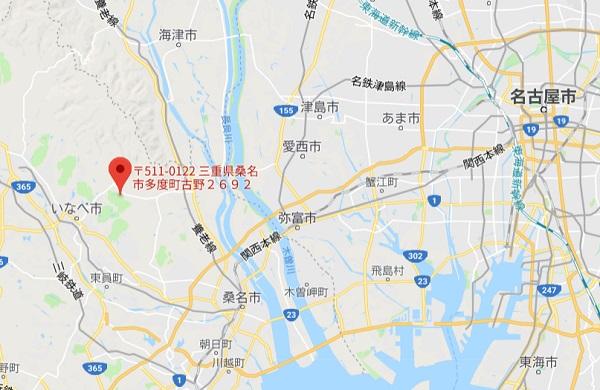 東建多度カントリークラブの地図