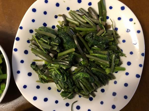山菜しどけのレシピおひたしの写真
