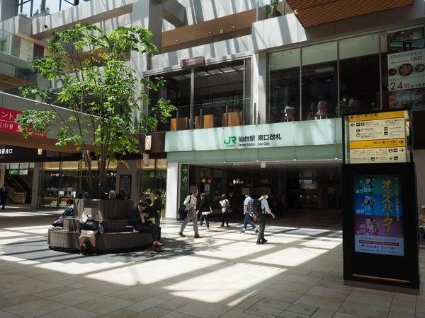 仙台駅待ち合わせ東口改札前