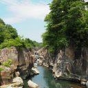 6月の厳美渓の風景写真