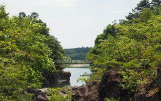 厳美渓の6月の風景